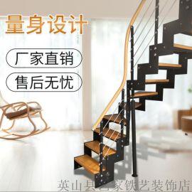 浠水蕲春楼梯扶手,定制实木玻璃楼梯扶手