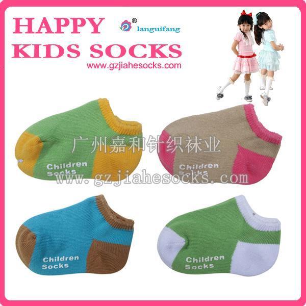 外贸粗针纯棉袜子 漂亮童袜 童船袜 运动童袜