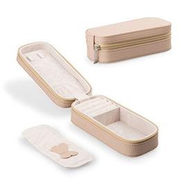 便携式首饰盒欧式绒布旅行收纳包耳钉戒指珠宝首饰盒