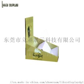 定做扑克牌小展架 瓦楞纸彩盒纸展示架,收银台展示盒