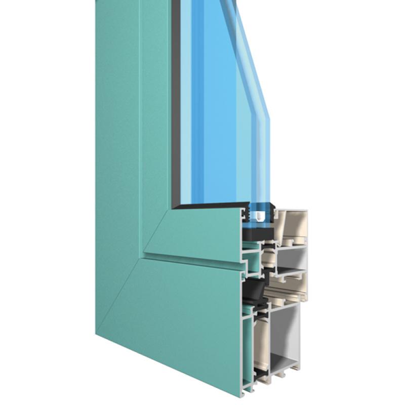 兴发铝业定制门窗系统65系列隔热节能外平门窗