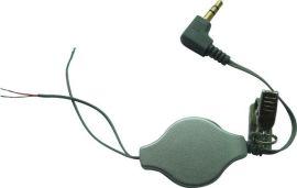 3.5DC镀金带夹耳机伸缩线