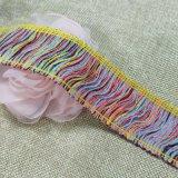幻彩排須花邊間色人造毛排須花邊 柔軟毛料流蘇花邊