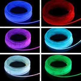 工厂供2mm超亮通体发光光纤实心导光光纤条侧面整条亮MMA氛围灯