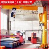 上海厂家供应1t2t3t定柱式悬臂吊旋臂起重机电动旋转悬臂吊