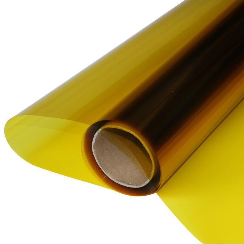 销售黄色玻璃装饰膜实验室电子设备玻璃防紫外线膜