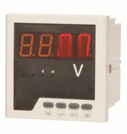 LEF818U型單相智慧電壓表LED數碼管顯示嵌入式安裝1A/5A廠家直銷