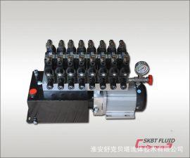 60V2.2KW无刷直流电机-8组电磁阀-10L油箱液压动力单元
