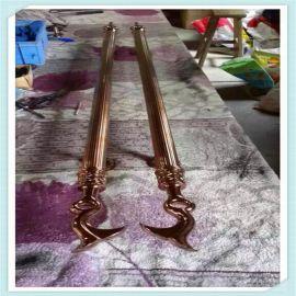 大门把手加工定制厂家 红古铜圆管不锈钢拉手销售 **玻璃门把手