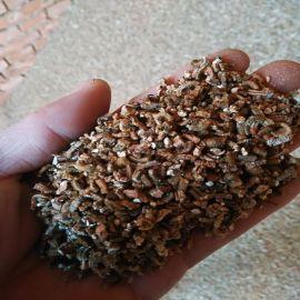 供应多孔材料金黄色膨胀蛭石 利水材料4-8mm蛭石颗粒