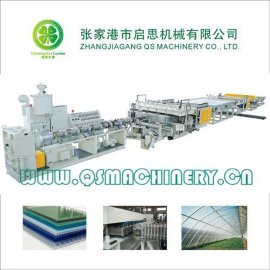 PC阳光中空格子板生产线