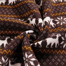 印花粗针绒布