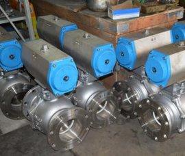 优质球阀Q641F,气动法兰铸  阀,气动球阀