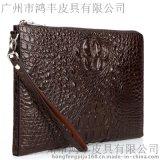 男士文件包定製 真皮夾包代工貼牌鱷魚紋包包
