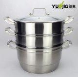广东粤嘉 二层三层多用不锈钢蒸锅 电磁炉通用 节能蒸锅汤锅