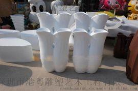 长期生产异形经久耐用玻璃纤维花盆雕塑 防腐蚀、耐老化玻璃钢花盆
