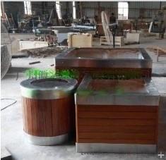 不锈钢包边花箱组合花箱 订制园艺花箱 大型实木花箱 木制花箱 户外花箱