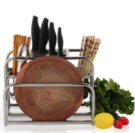 广州奥的多功能刀架 厨房不锈钢置物架**筷子筒砧板架