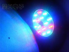 15LED迷你频闪灯/LED频闪灯/七彩声控灯 led灯 舞台