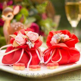 甜蜜日 欧式喜糖袋纱袋锦缎婚礼婚庆用品糖盒子创意喜糖盒结婚