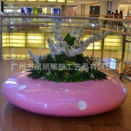 **玻璃钢休闲椅 飞碟坐凳 商场户外美陈摆设 艺术时尚