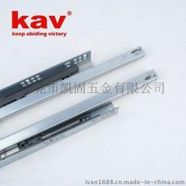 kav品牌厂家直销662THI两节半开阻尼抽屉滑轨 带调整钉 家具路轨托底式缓冲滑道