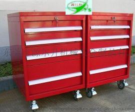 YES-4抽屉红色工具车 重型工具车