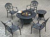 供應鑄鋁燒烤桌椅/燒烤爐/戶外休閒傢俱(KY-9138)