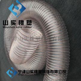 环保设备风机专用管,工业吸尘管,塑料透明钢丝吸尘管,通风除尘软管,透明PU吸尘管