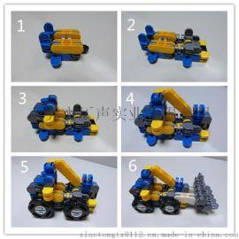 小婷同学益智早教变身机器人  拼接拼插类玩具