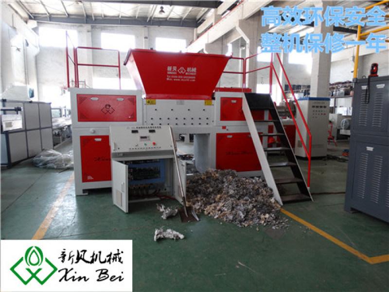 新贝机械供应 XB-D1000型双轴太空袋撕碎机