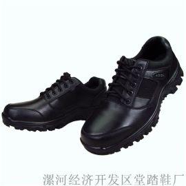 真皮配发皮鞋安保执勤鞋生产厂家 漯河鞋厂