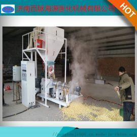 新型玉米饲料膨化机 貂狐饲料加工设备