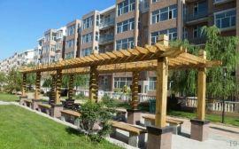 甘肃防腐木廊架-兰州防腐木廊架-景观木结构工程