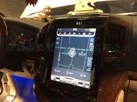 爆款08-15款老兰德酷路泽12.1寸竖屏安卓特斯拉大屏导航一体机多媒体音响GPS