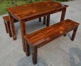 美式乡村复古实木餐桌 饭店西餐厅长方形桌子众美德厂家供应
