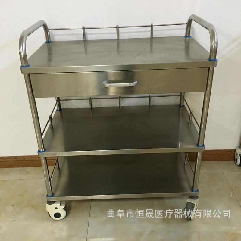 医院用不锈钢治疗车推车 扇形器械台车 厂家直销