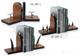 欧式工艺品北欧饰品摆件创意书房摆件书立书挡桌面饰品包邮