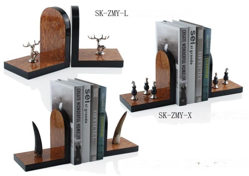 歐式工藝品北歐飾品擺件創意書房擺件書立書擋桌面飾品包郵