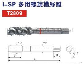 P-Beck品牌 I-SP多用螺旋槽丝锥 T2809 M2-M30