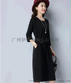 国内**品牌2016年新款依维特连衣裙女装尾货折扣,厂家直销一手货源。