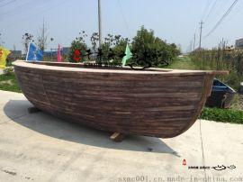 船型吧臺 景觀海盜船餐飲船 裝飾木船廠家定做