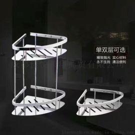 雙層吸壁式壁掛衛生間浴室置物架洗手間洗漱臺三角架子