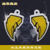 黃色辣椒形logo吊牌  個性時尚PVC箱包掛件