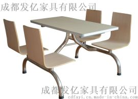 贵州学生食堂快餐桌椅定制厂家