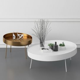 定制北欧客厅时尚小茶几 简约金色铁艺  桌创意沙发小边几组合