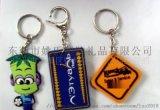 东莞厂家定制pvc软胶钥匙扣卡通钥匙扣滴胶钥匙扣