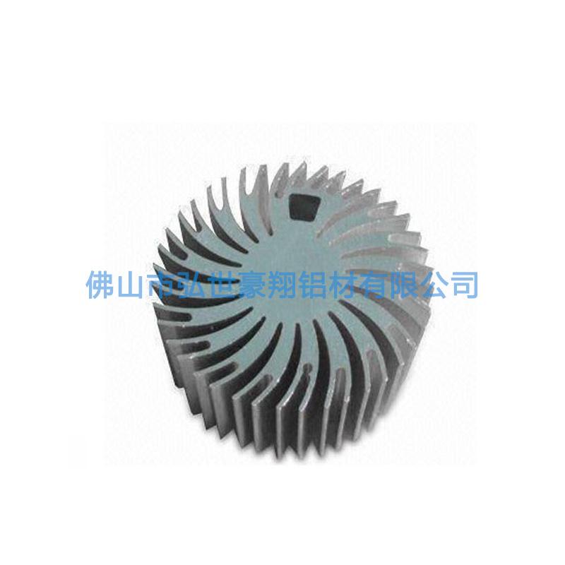 定制高密齿太阳花散热器 6063铝型材散热器