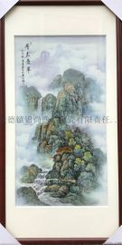 景德镇手绘瓷板画定制 山水花鸟瓷板画工艺品