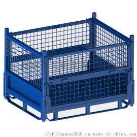 1411B折叠金属箱 折叠式金属周转箱铁板箱